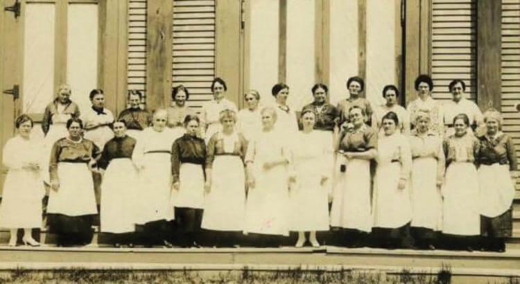 Archival photo of women