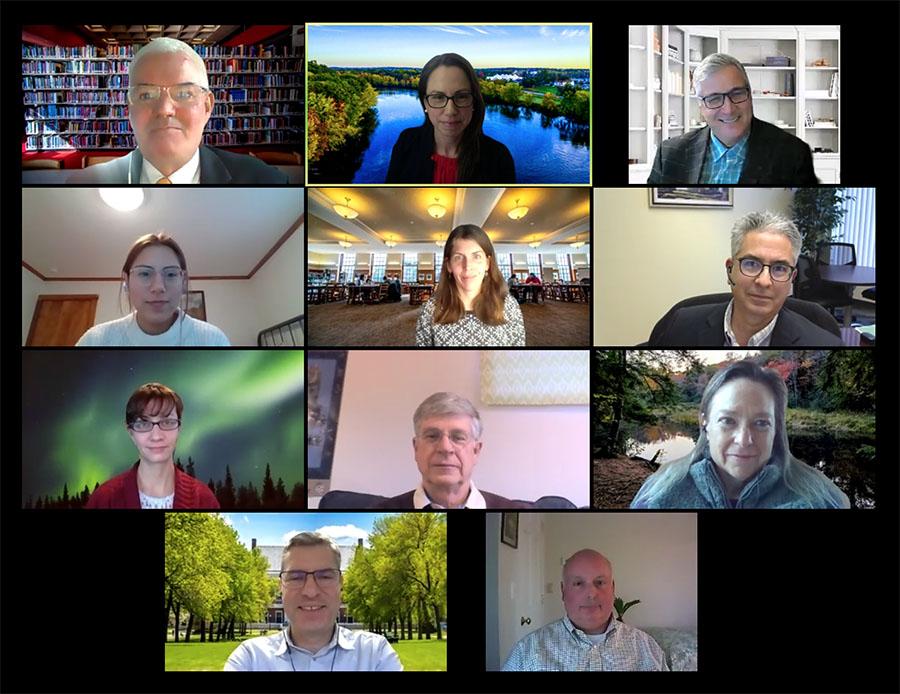 Zoom meeting screenshot of Science Advisory Board members
