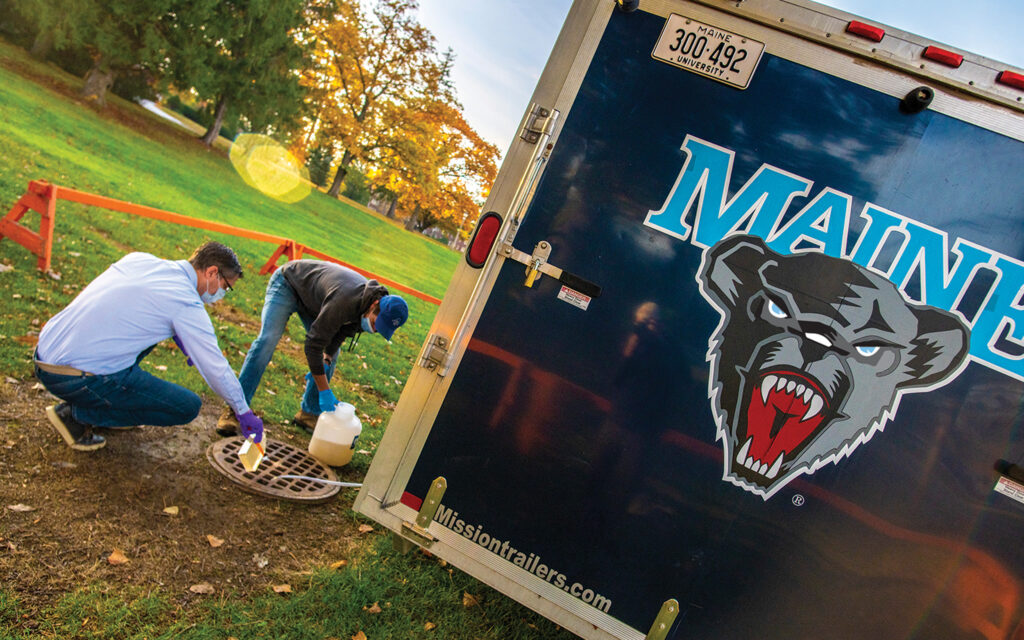 Wastewater testing on campus in Orono