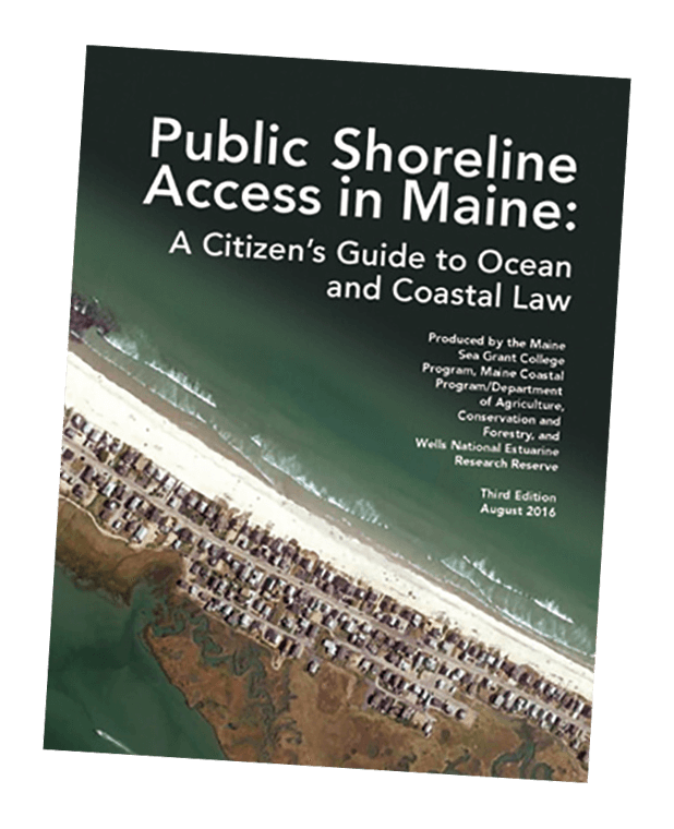 Cover to Public Shoreline Access in Maine: A Citizen's Guide to Ocean and Coastal Law