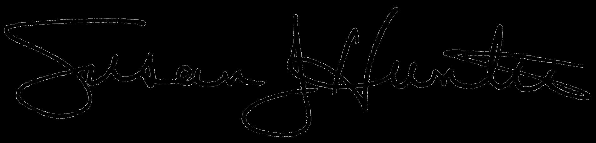 President Hunter signature
