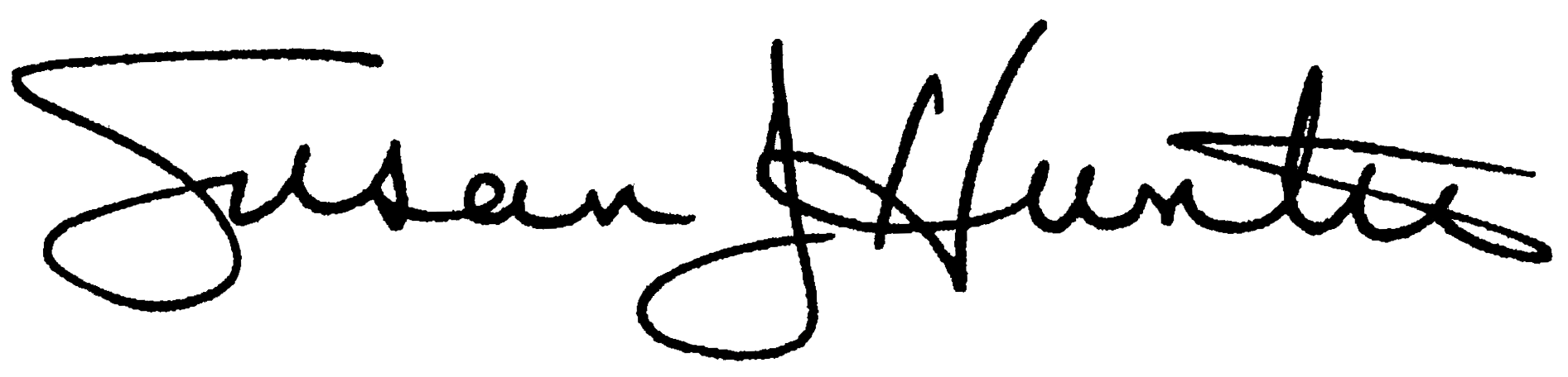 President Hunter signature