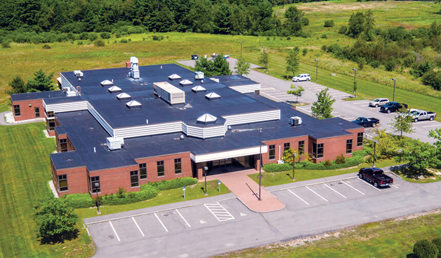 Aerial photo of the new lab