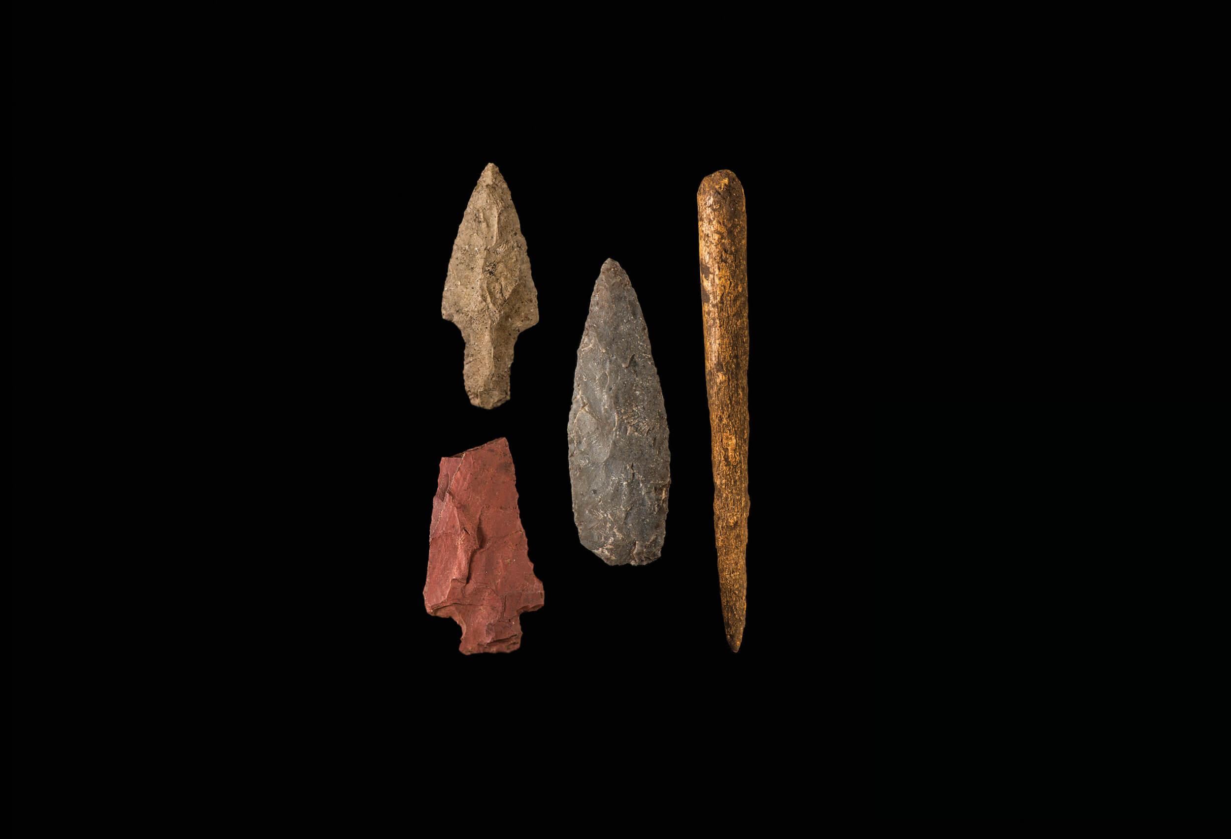 Stone and bone tools