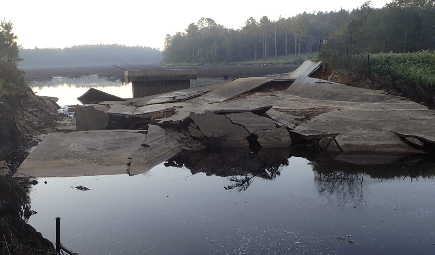 Dam destroyed by Hurricaine Irma