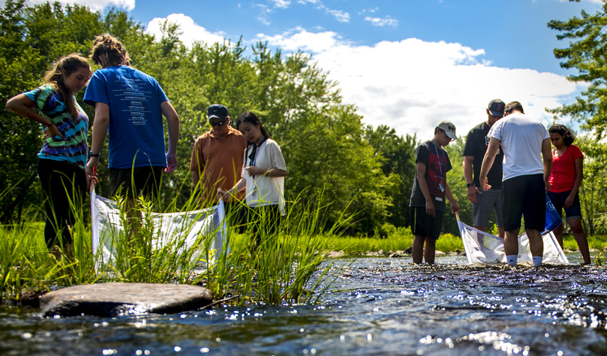 SMART Insititue students in a river