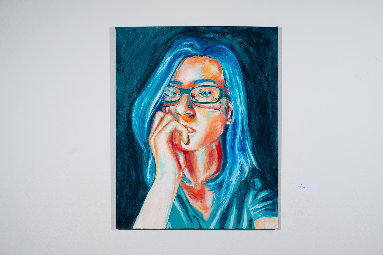 Self-Portrait by Maya Silver [Acrylic/Canvas, 2017]