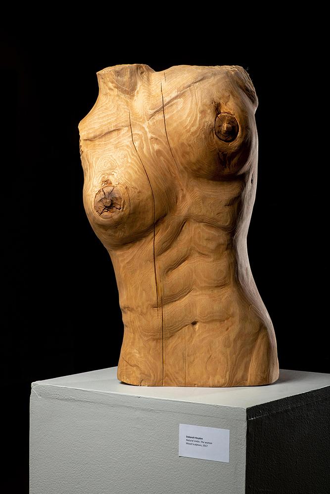 Natural Limbs: The woman by Deborah Heyden [Wood Sculpture, 2017]
