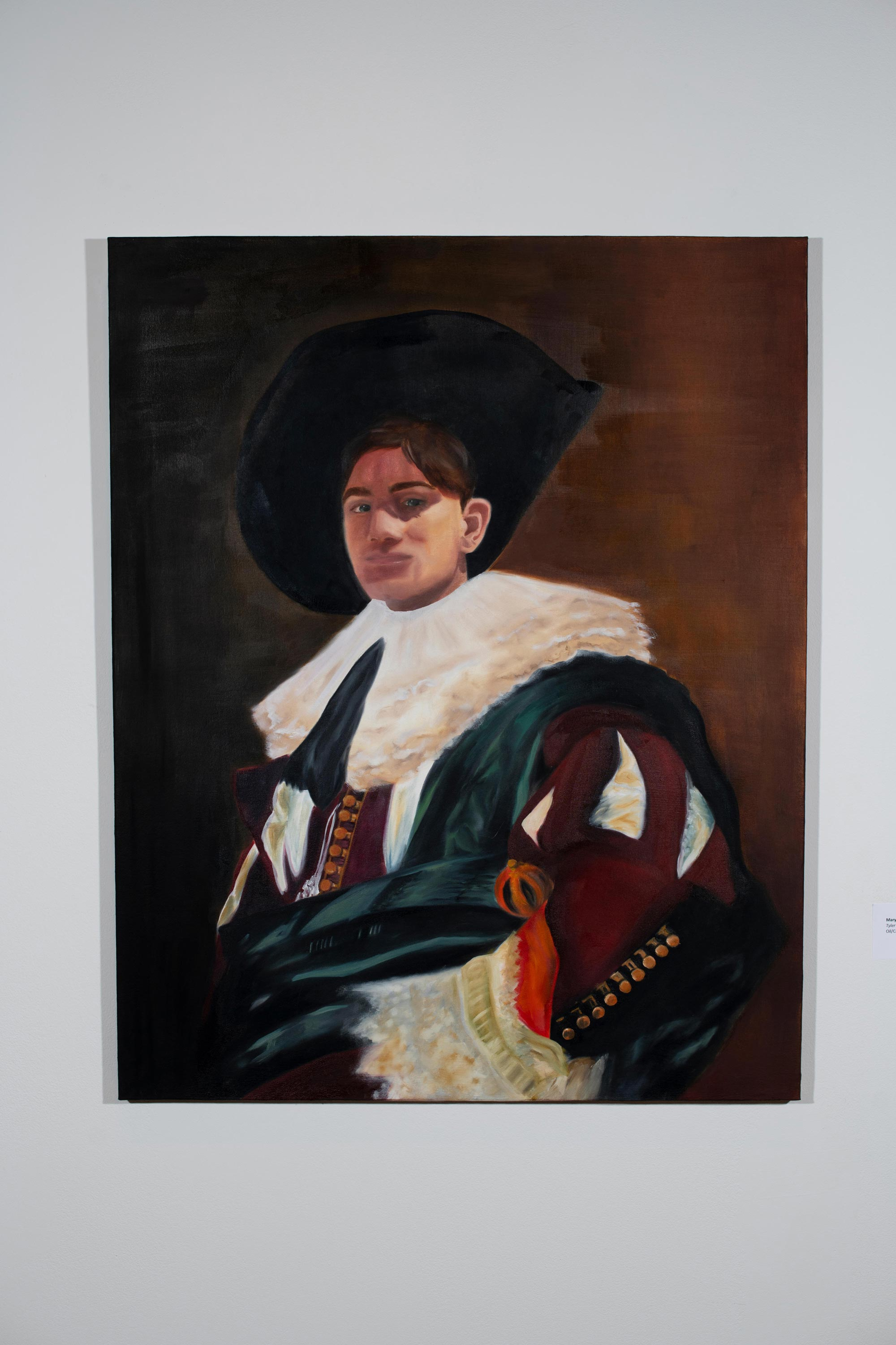 Tyler after Frans Hals by Mary Manley [Oil/Canvas, 2018]