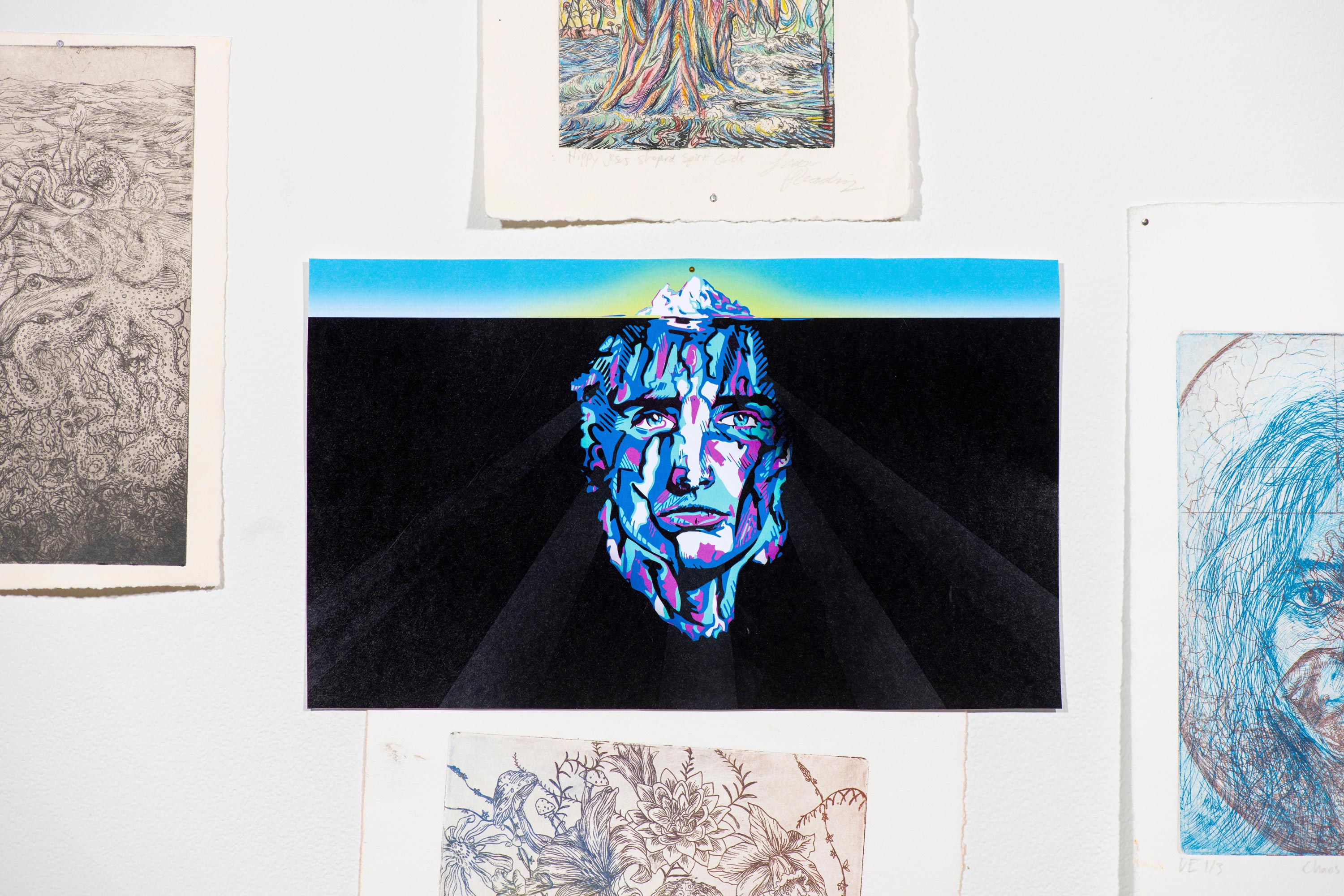 Suite of Intaglio Prints by Liam Reading [Intaglio Print, Watercolor, and Acrylic 2017-2018]