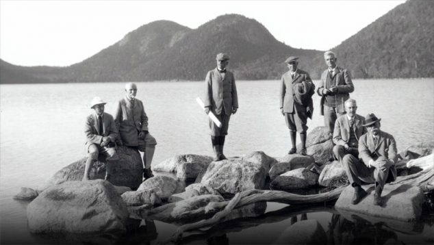 Archival photo of met in Acadia National Park